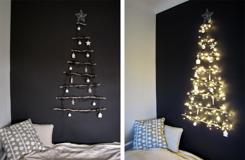 3 ideetjes voor een alternatieve kerstboom huisje van papier for Huisjes voor aan de muur